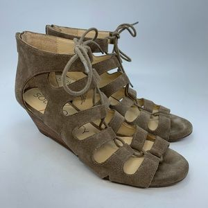 Sole/society so-Frey strappy cage wedge